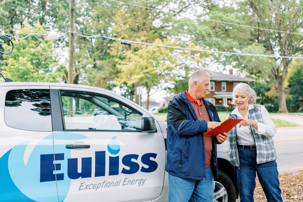 customer by Euliss truck